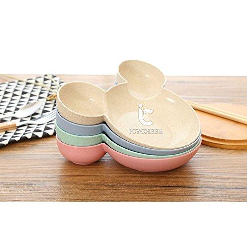 icycheer Kunststoff Mick Head Big Schüssel Dish of Fruits Baby Gerichte Lunchbox Baby Schale geteilter Teller für Kleinkinder, Babys und Kinder