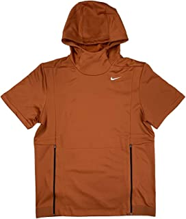 Mens Dri-Fit Therma-Fit Short Sleeve Team Training Hoodie Shirt