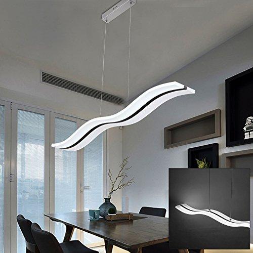 JUEYAN LED Pendelleuchte Dimmbar Kronleuchter 36W Lüster Wasserdicht IP44 Deckenlampe Hängelampe mit Fernsteuerung
