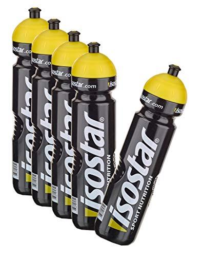 Isostar Sport Trinkflasche 5x1000 ml - BPA-frei - Wasserflasche für Laufen, Radfahren, Wandern - Praktischer und auslaufsicherer Push