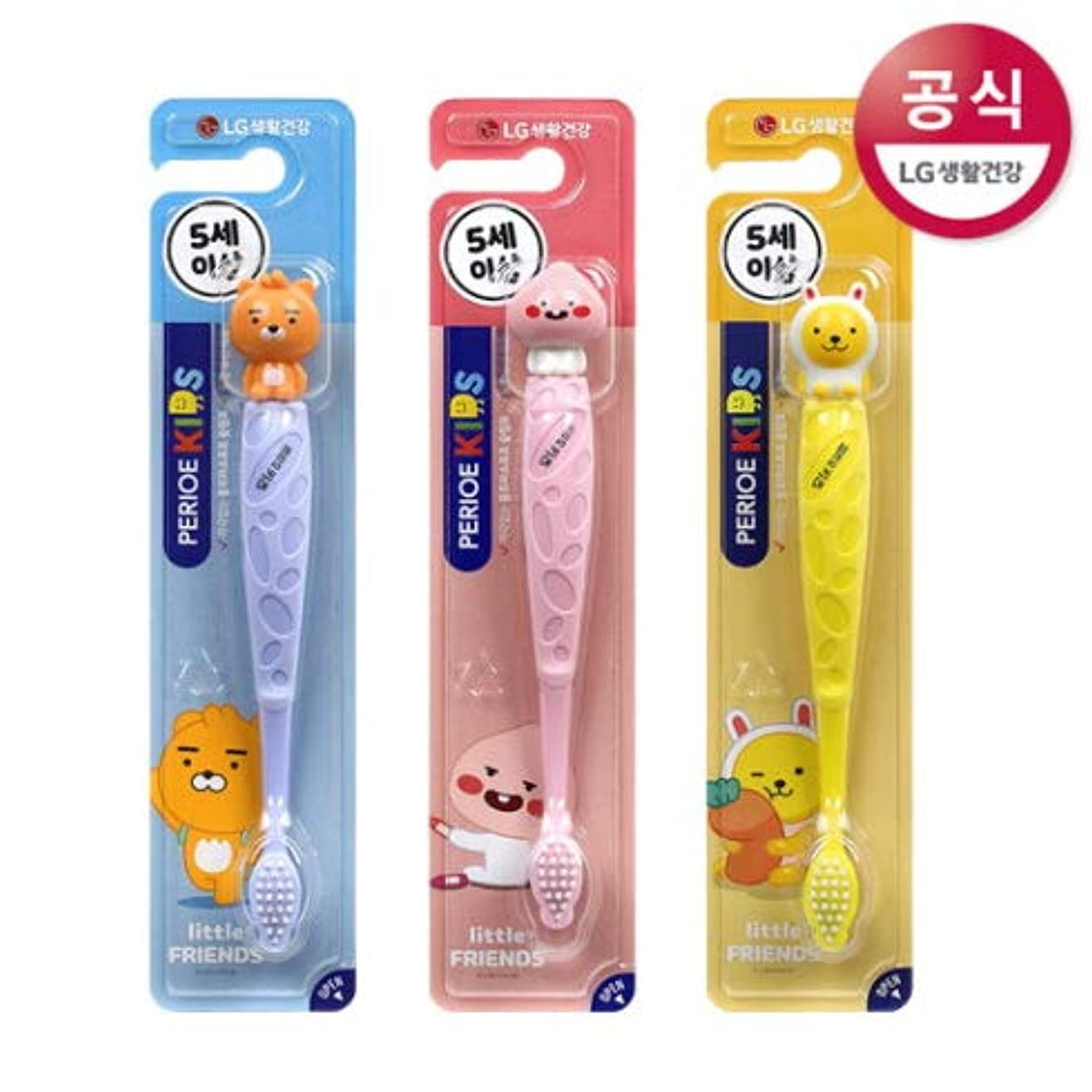 プレフィックス厳しいワックス[LG HnB] Pero Kids Cocoa Figure Toothbrush/ペリオ子供カカオフィギュア歯ブラシ 1口x3個(海外直送品)