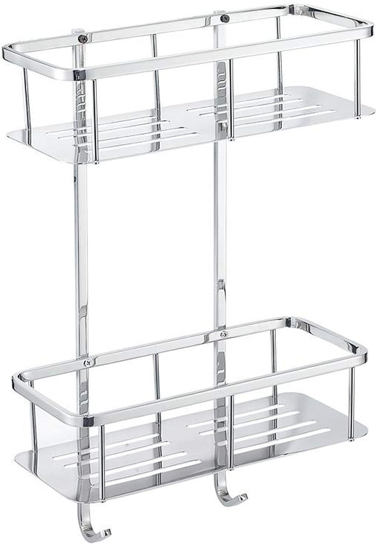 Bathroom Storage Rack, Bathroom Accessories for Shampoo Conditioner Rustproof Stainless Steel, Rectangular