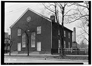 HistoricalFindings Photo: Old School Baptist Church,Main Street,Hopewell,Mercer County,NJ,New Jersey