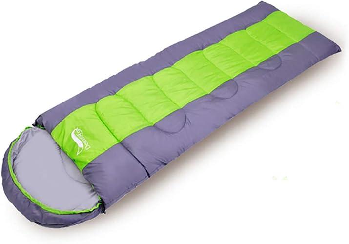 LBWNB Sac de couchage-3-4 Saison léger Sac de Couchage avec Housse de Compression pour Les Enfants Adultes Camping randonnée sac à dosing Voyage,vert,2KG