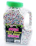 Foam Beads for Slime - Approx. 300,000 Pieces (2-3mm) - Easy Pour Gallon - Smoothfoam Kids (Rainbow)