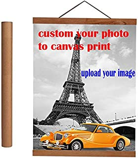 diynshop Poster Frame-Wood Magnetic Frame Hanger-Turn Photo Into Canvas Pprinting-Personalized Premium Canvas16(40cm)-Without Poster