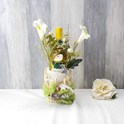 Geld Geschenk zum Geburtstag, Geschenk zur Hochzeit, Weinflasche, dekoriert, Hochzeit Geschenk, Geburtstagsgeschenk,