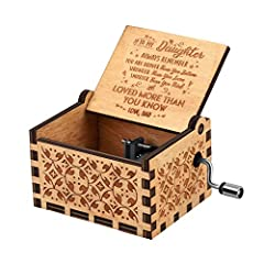 1.NO battery:Keep cranking the handle to play music. You are my sunshine Music melody,it is a great Gift for Birthday or Christmas. 2.NO limit:the box with a good sound enjoyed by the children and adults.And small size, easy to carry. 3.NO difficult:...