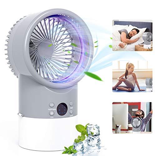 Condizionatore Portatile, TedGem Mini Condizionatore, Mini Raffreddatore D'aria, 3 in 1 Ventilatore/Umidificatore/Condizionatore, 3 Velocità, Basso Rumore, 7 LED Colori, per Casa e Ufficio