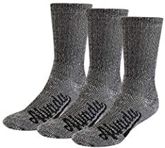 MAKE HIKING A COMFORTABLE EXPERIENCE These Merino wool hiking socks are built to provide you with total support and comfort during your hiking trips, no matter the weather. Each pair of these hiking boot socks is ideal for the rugged terrain, allowin...