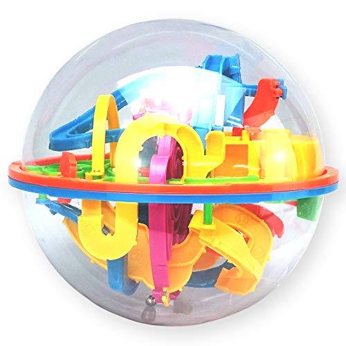 彩耀堂 【製品保証書付き】 3D立体 パズル ボール 迷宮 迷路 おもちゃ バランスゲーム 空間認識 (138関)