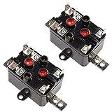 HQRP 2 Paquetes Relé de Ventilador de Uso General Reemplazo Compatible con Aplicaciones de calefacción/refrigeración y conmutación General Posavasos