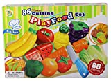 Haberkorn 86 TLG Lebensmittel Set für Spielküche schneidbar Obst Gemüse Snacks