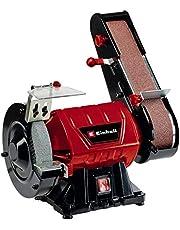 Einhell TC-US 350 Band- en schijfschuurmachine (350 watt, band-/schijfslijpfunctie, beschermkap, vonkenbescherming, met grofkorrelige slijpschijf + schuurband)