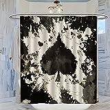Ace of Spades Poker Duschvorhang für Badezimmer, 183 x 200 cm, wasserdicht, mit 12 Kunststoffhaken, schnell trocknender Badvorhang