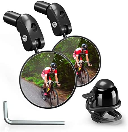 Bike Rearview Mirrors Adjustable Handlebar End Mount Bicycle Side Mirror Rotatable Bar End Bike product image