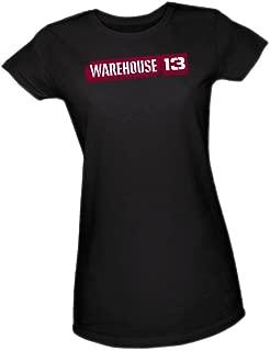 TV Show Logo -- Warehouse 13 Crop Sleeve Fitted Juniors T-Shirt