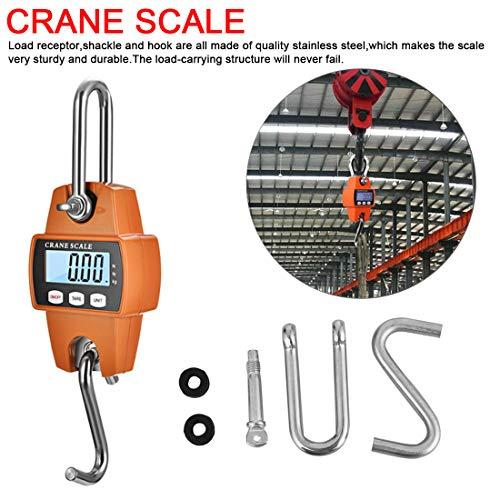 NoyoKere Báscula Colgante 300Kg para Granja,Peso de Arco con Sensor de Precisión (Estuche Digital Profesional y liviano)
