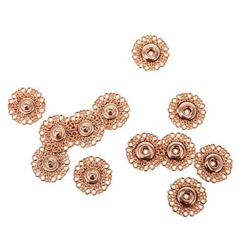 Baoblaze 6 zestawów wzorów metalowych niewidoczne zatrzaski zatrzaski strona startowa szycie terminy dostawy 21 mm - złoto, 21 mm