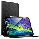 """ESR Hülle kompatibel mit iPad Pro 11"""" 2020 [Unterstützt Kabelloses Laden für Apple Pencil 2] Buchdeckel Design, Auto Schlaf-/Weckfunktion für iPad 11"""" (2020), Holzkohle"""