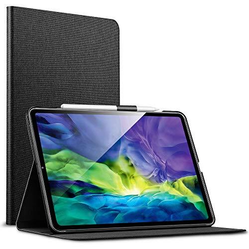 """ESR Capa de livro Urban Premium para iPad Pro 11 2020 e 2018 (compatível com 2 canetas de carregamento sem fio), design de capa de livro, suporte de exibição de vários ângulos, desligamento / ligação automática para iPad 11 """", cinza escuro"""