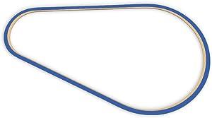 Racetrackart RTA-10279-BL-23 Rennstreckenkontur des Highlands Motorsports Park B-Blau, 23 cm Breite, Spurbreite 9mm, Holz, 23 x 23 x 0.9 cm