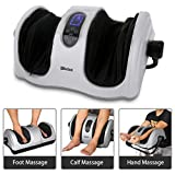 Foot Calf Massager with Heat, Shiatsu Deep Kneading Massage Machine for Foot Calf Arm, Stimulate Blood Circulation...