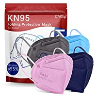 【EACH for CONCERN & LOVE】5-layer design KN95 mask further upgrades protective level, safer than 3-layer fabric or normal bandana and wraps. 【5-LAYERED FILTER】Breathable kn95 face masks are made of two layers of non-woven cloth, two layers of melt-blo...