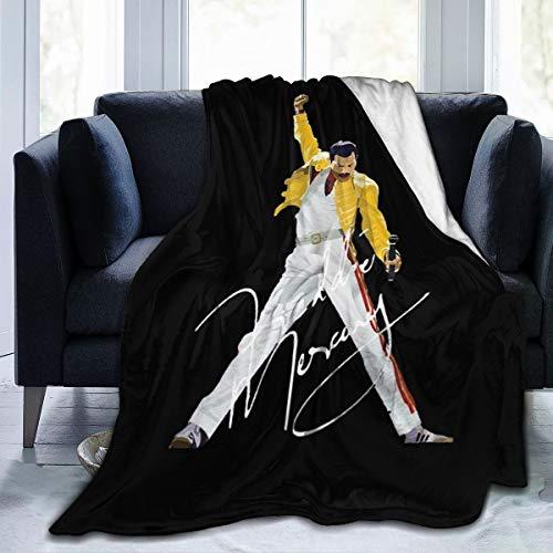 Lphdfoxh1 Queen Band Bohemian Rhapsody Freddie Mercury - Funda de edredón de franela adecuada para todos los sofás, oficinas, suave y cómoda.
