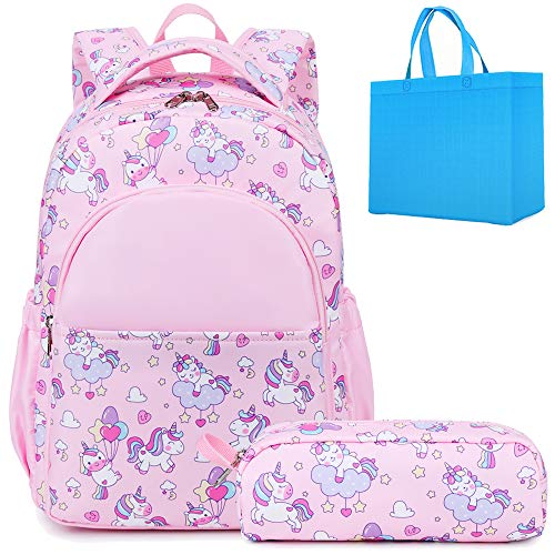 School Bags for Girls Toddler Backpack for Little Girls 2 in 1 Unicorn Backpack for Kids School Backpack Pink
