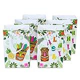 WERNNSAI Aloha Party Sacs de Faveur -Tropical Hawaïen Articles de Fête Fleur Tiki Ananas Sacs Cadeaux Fête d'anniversaire Mariage Baby Shower Été Piscine Pique-Nique, 16 Pièces