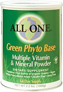 All One Nutritech Green Phyto Base Multiple Vitamin and Mineral Powder - 2.2 lbs