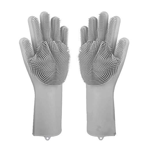 ZKSM 1 Paar Handschuh Tierhaare, Pflegehandschuhe katzen aus Silikagel Handschuh bürste katze für Lange & Kurze Pelz Tier, katzenhaare, Hunde, Kaninchen, Pferd