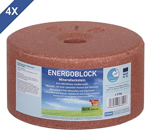 imima ENERGOBLOCK 4er Set Mineralleckstein, 4X 3kg