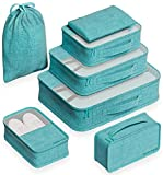 EVEK Travel Packing Cubes, Luggage Organizers Set (New Green)