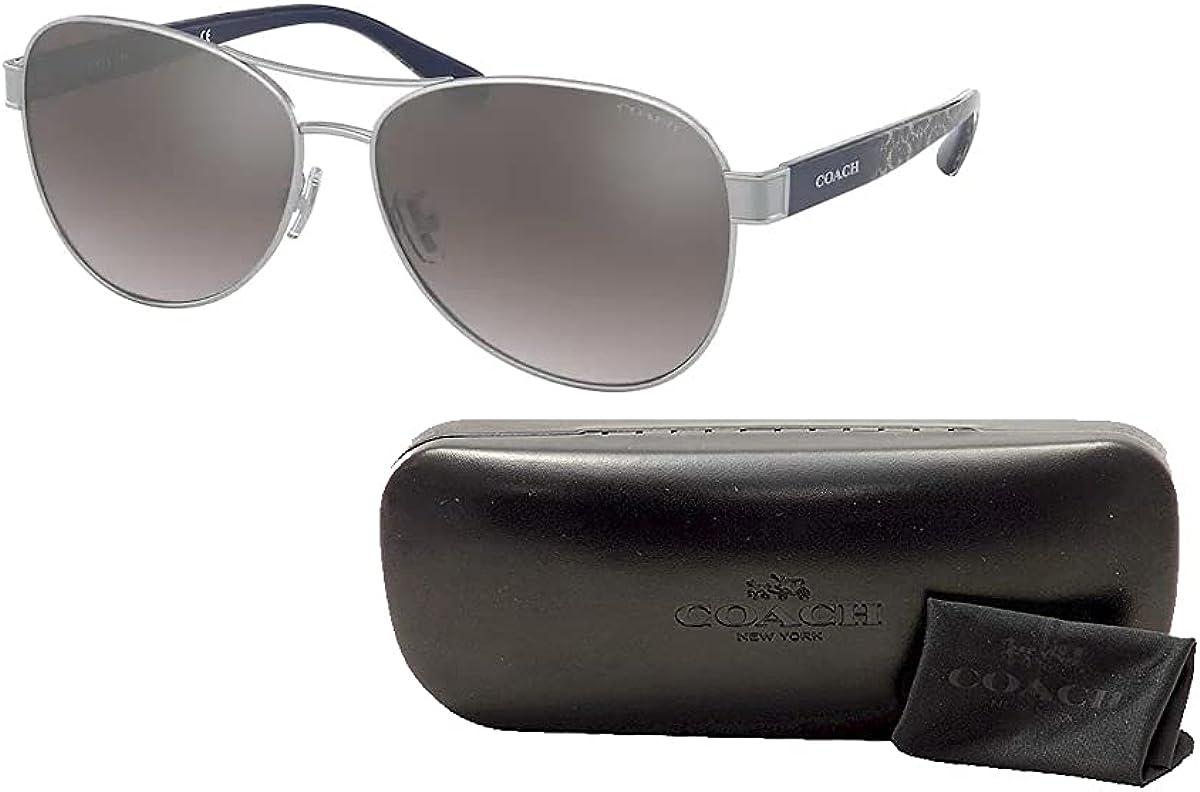 Coach HC7115 Pilot Sunglasses for Women + FREE Complimentary Eyewear Kit