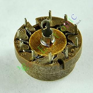 Cary 4pcs 10Pin Válvula de tubo de vacío sockets base de baquelita para d9j2Radio amplificadores DIY partes