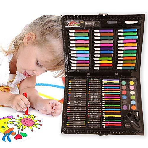 Yolistar 142 piezas Creatividad Art Set para niños dibujo y pintura Lápices de Colores Set Crayón Pintura al óleo Brocha Herramienta de DibujoNiños Estudiante Regalo