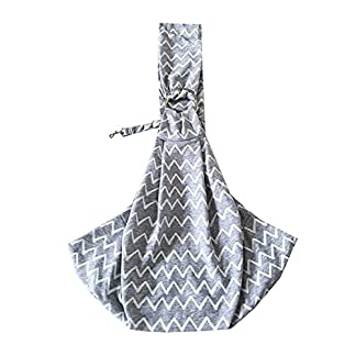 TIGER MAMA Reversible Pet Sling Carrier for Pets Up to 12+ lbs (Adjustable Shoulder Strap Version) 20