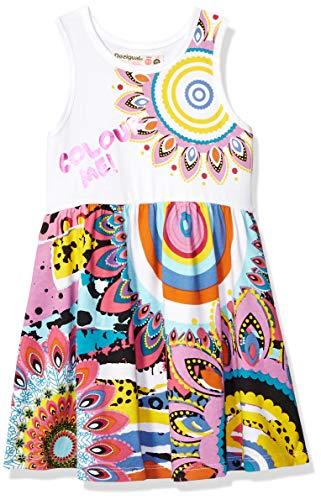 Desigual Girl Knit Dress Straps (Vest_adís Abeba) Vestido, Blanco (White 1000), 152 (Talla del Fabricante: 11/12) para Niñas