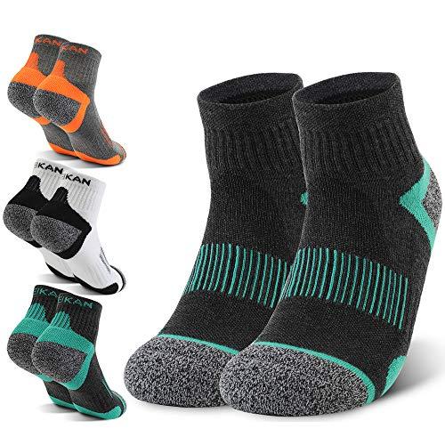 SPFASZEIV 6 Paar Low Sportsocken Baumwoll Laufsocken Sneakers Socken Gemütlich Gestreifte Sportsocken für Fitness, Sneakers & Walking