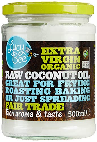 Lucy Bee Extra Virgin Fair Trade Organic Raw Coconut Oil, 500ml