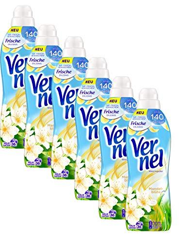 Vernel Mandelblüte, Weichspüler, für einen langanhaltenden Duft und traumhaft weiche Wäsche (216(6x36) Waschladungen)