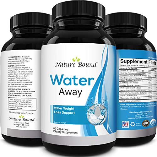 Water Away Supplement for Fast Bloating and Swelling Relief Pure Natural Diuretic Pills Reduce Water Retention Support Weight Loss Boost Energy Levels