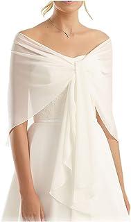 CoCogirls Chiffon Stola Schal für Kleider in verschiedenen Farben zu jedem Brautkleid - Abendkleid, Hochzeit Abend Gala Empfang
