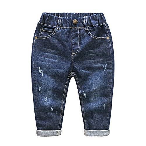 Wanlianer Baby- und Jungenjeans Die Kinder-Babyjeans-Hose mit elastischer Taille (Farbe : 130cm)