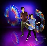 G.L.O.W. Poi LED - Go Light Our Word! 1 Light Stick, Multi-Color, 7'