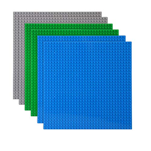 LVHERO Classic Baseplates Building Plates for Building Bricks 100% Compatible with All Major Brands-Baseplate, 10  x 10 , Pack of 6, Multicolored
