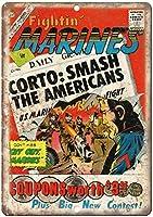 コミックヴィンテージティンサイン装飾ヴィンテージ壁金属プラークカフェバー映画ギフト結婚式誕生日警告のためのレトロな鉄の絵