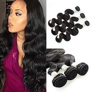 Peruvian Hair 4 Bundles Body Wave Weave 8a Peruvian Virgin Hair Barroko 100% Unprocessed Human Hair Remy Weave Weft Natural Black Color (20 22 24 26)